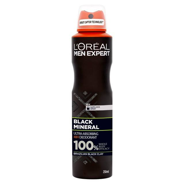 L'oreal Paris Men Expert Black Mineral Deodorant - 250ml