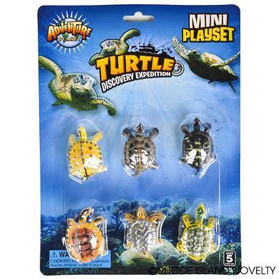 Adventure Planet 6 Piece Mini Turtle Set