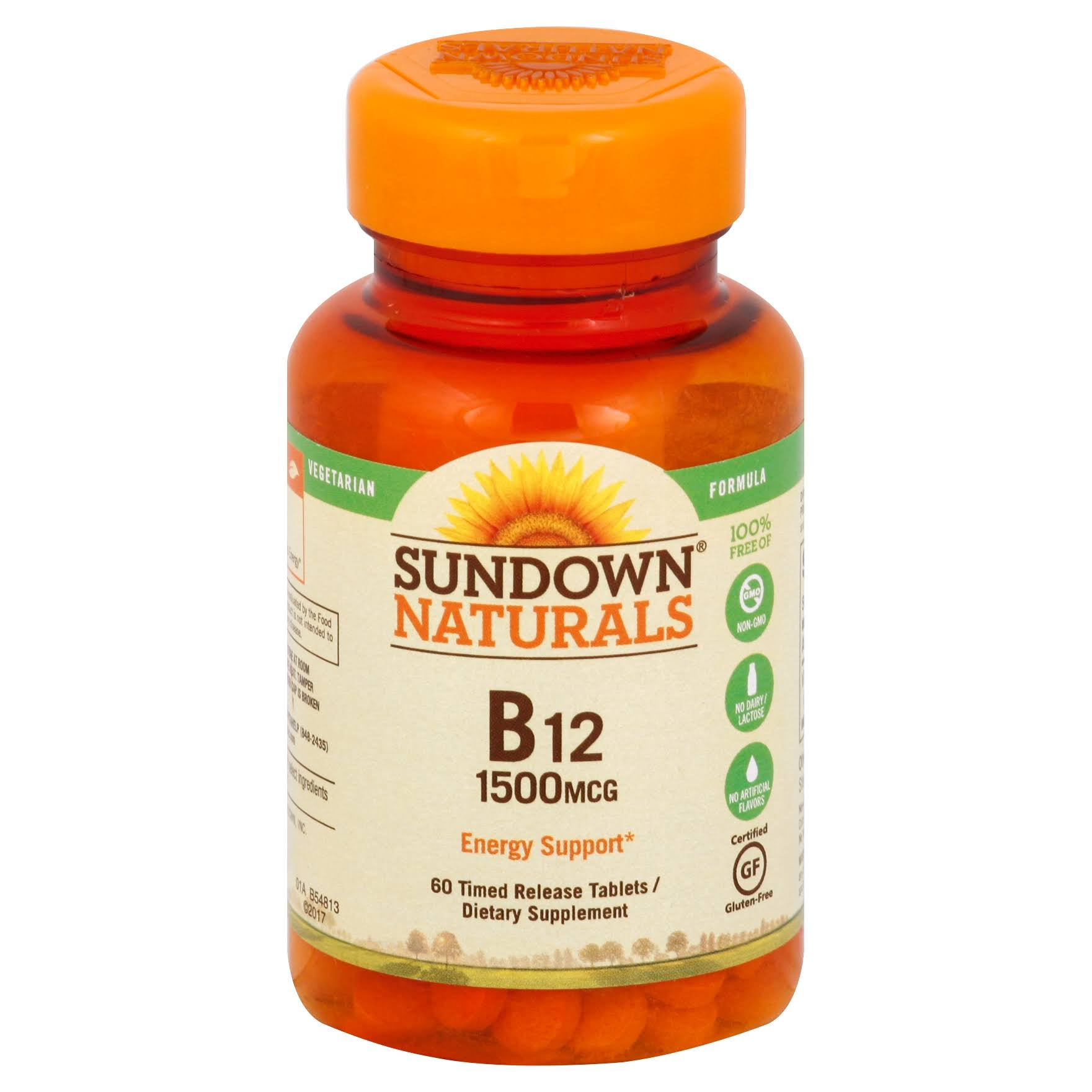 Sundown Naturals B12 Dietary Supplement - 1500mcg, x60