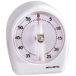 Chaney Acurite Short Ring Timer - White