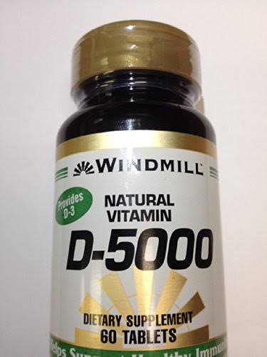 Windmill Vitamin D 5000 IU 60 Tablets