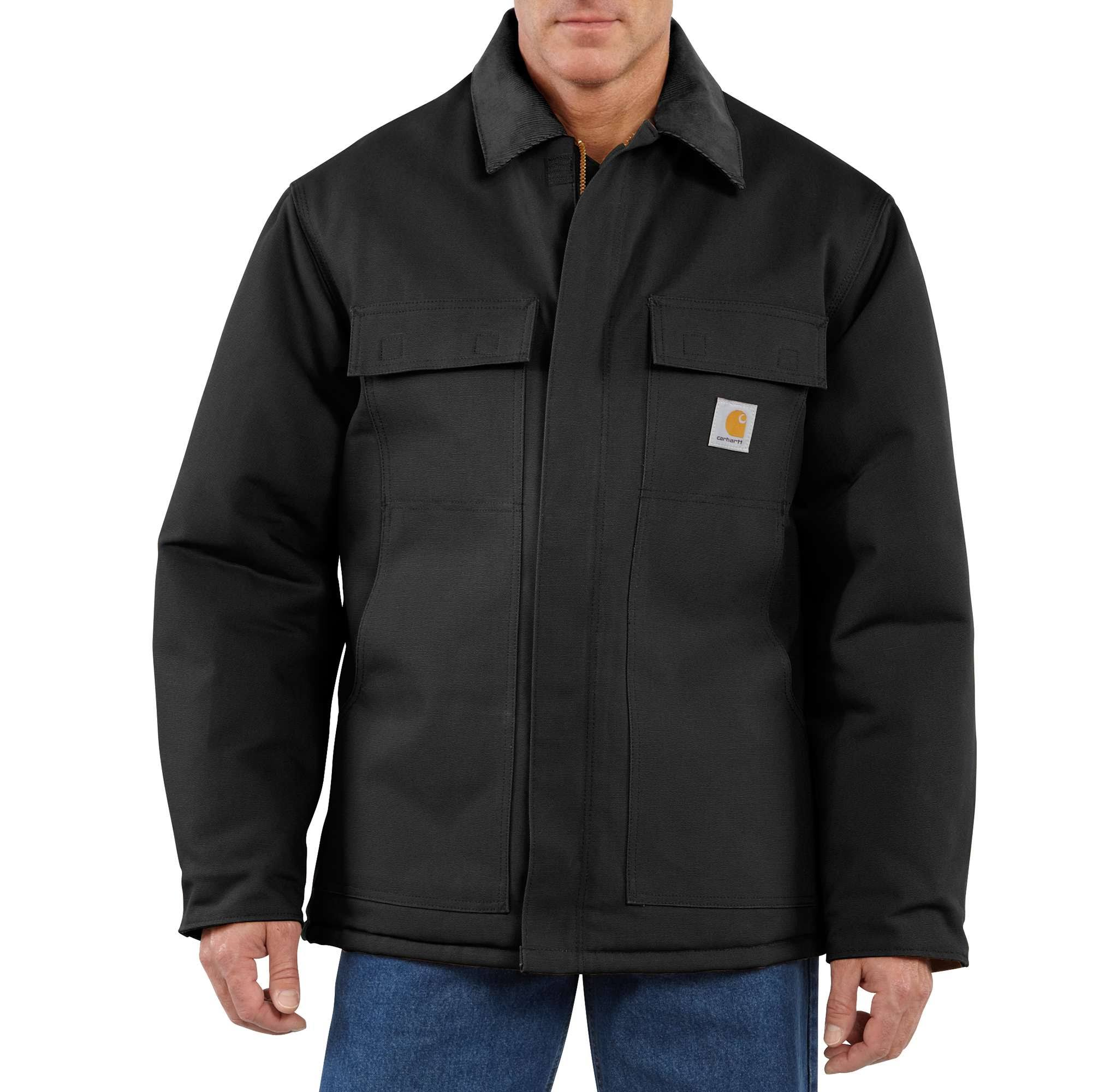 Carhartt Men's Traditional Arctic Quilt-Lined Duck Coat - Black, X-Large