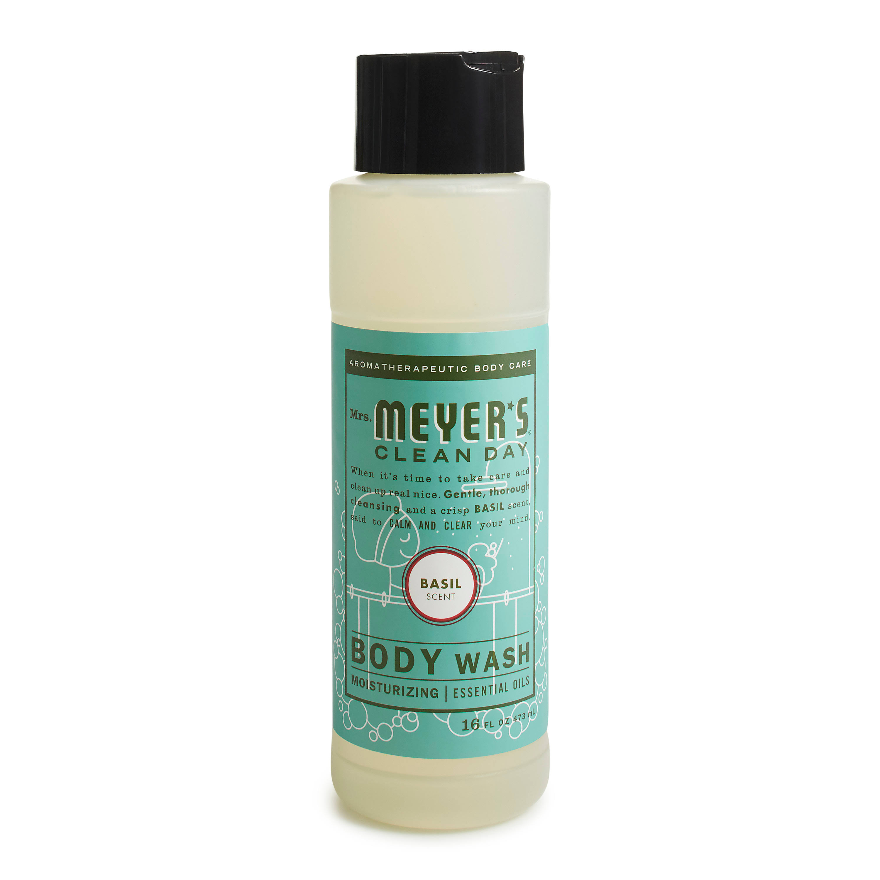 Mrs. Meyer's Clean Day Body Wash - Basil, 16oz