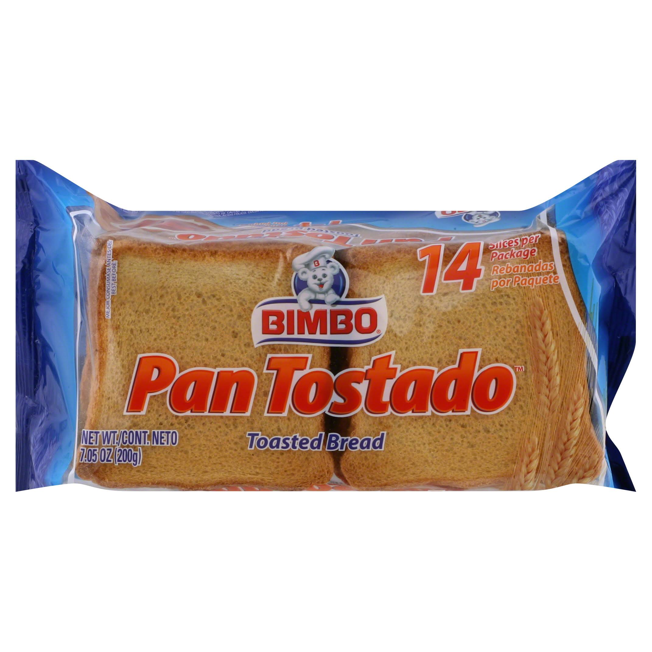 Bimbo Toasted Bread - Original, 7.4oz