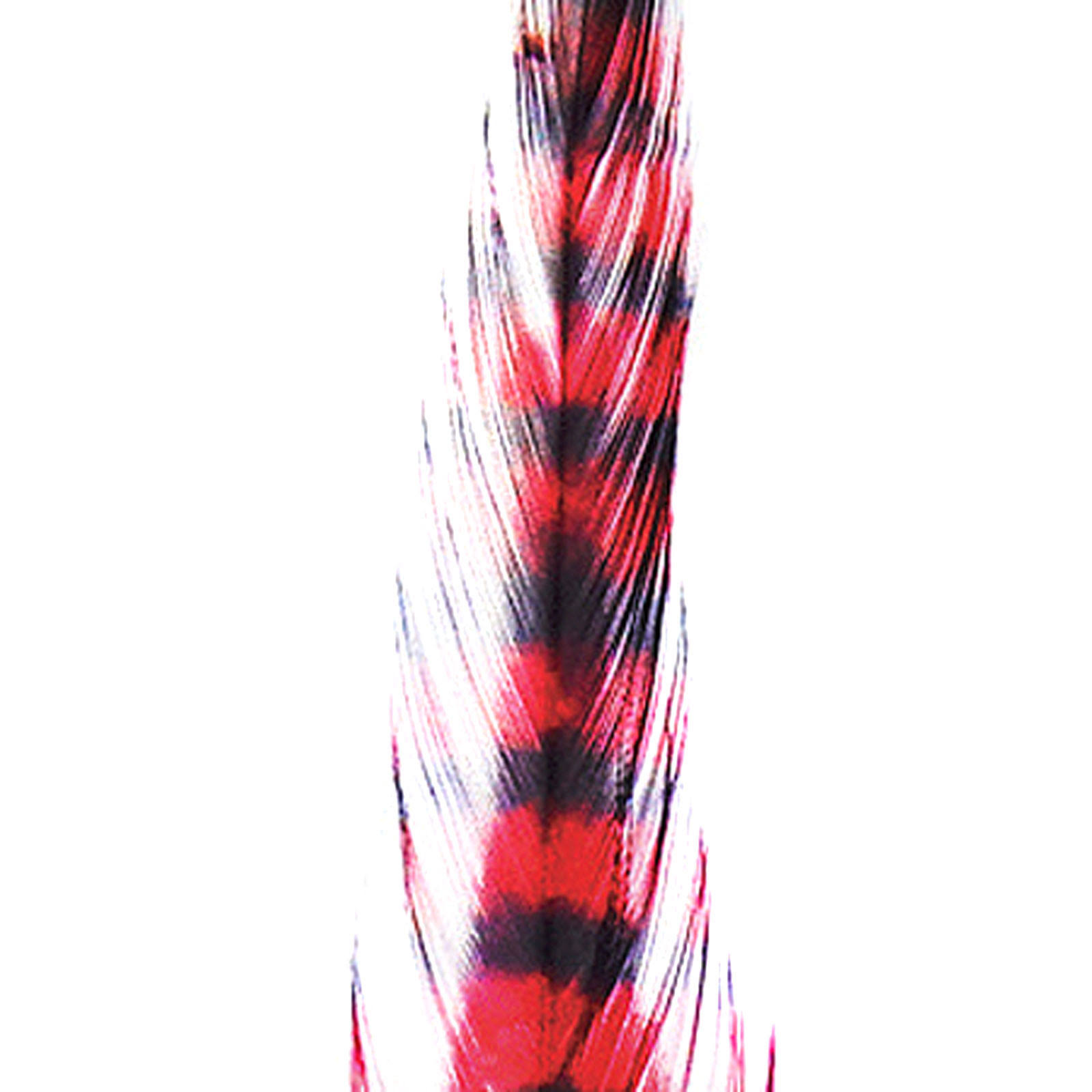 Barred Saddle Hackle - Tan/Black