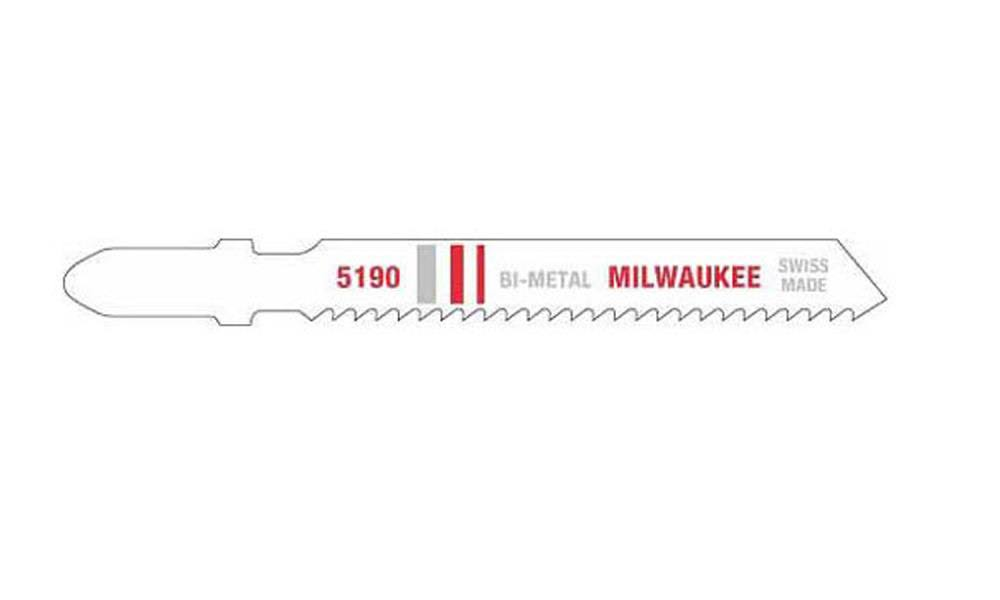 "Milwaukee 48425190 Bi Metal Jig Saw Blades - 3"", 14 Teeth, 5pk"