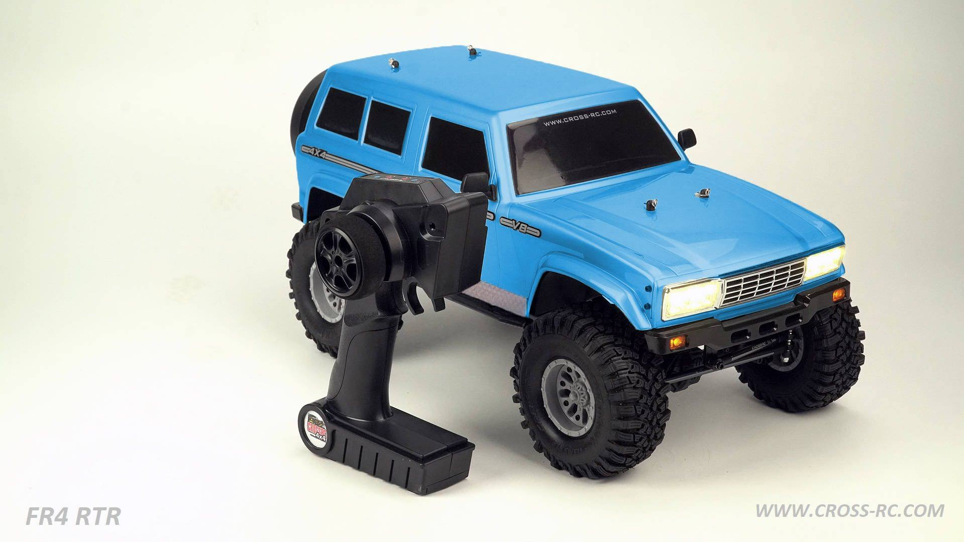 Cross RC - FR4 1/10 Demon 4x4 Rtr; No Battery or Charger - Blue
