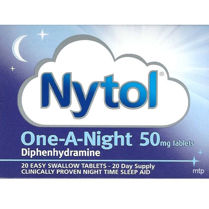 Nytol One-A-Night Diphenhydramine - 50mg, 20 Tablets