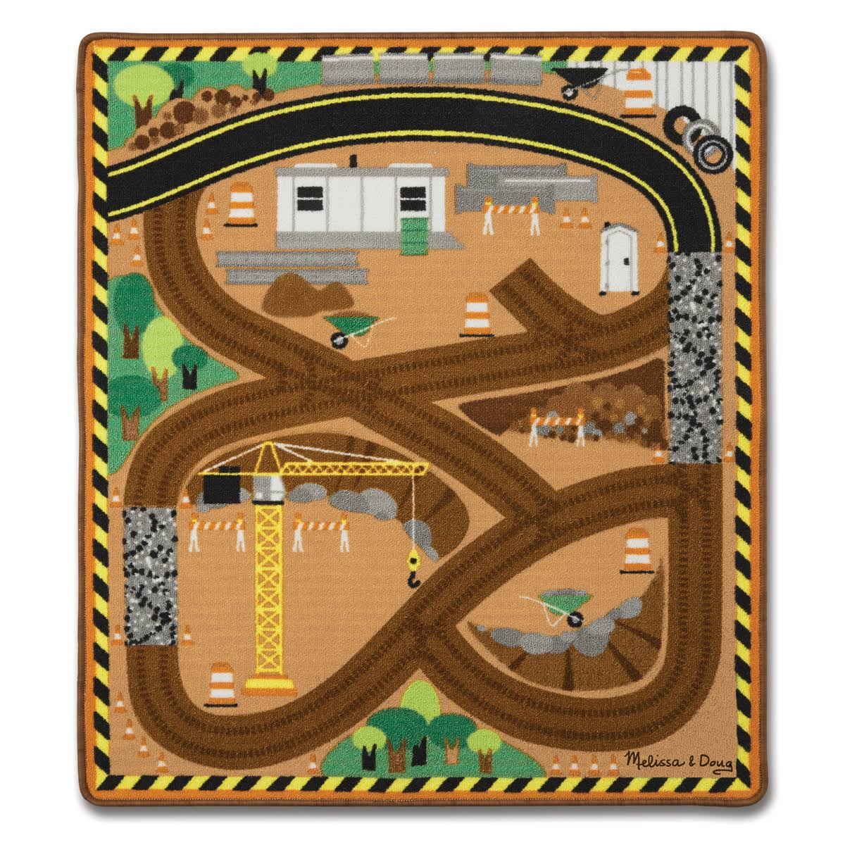 Melissa and Doug Construction Rug Playset