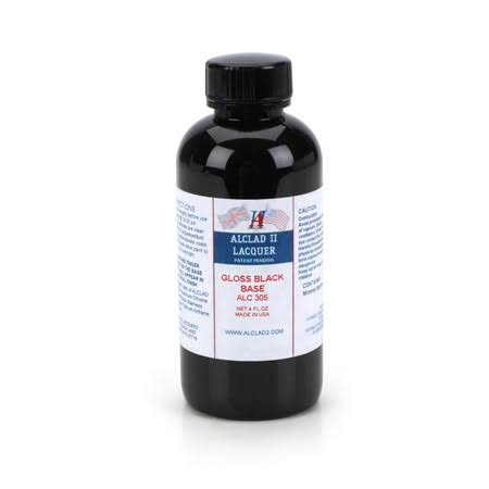 Alclad Ii Lacquer - Gloss Black Base, 4oz