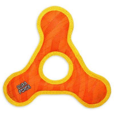 DuraForce TriangleRing Tiger Dog Toy, Orange, Large