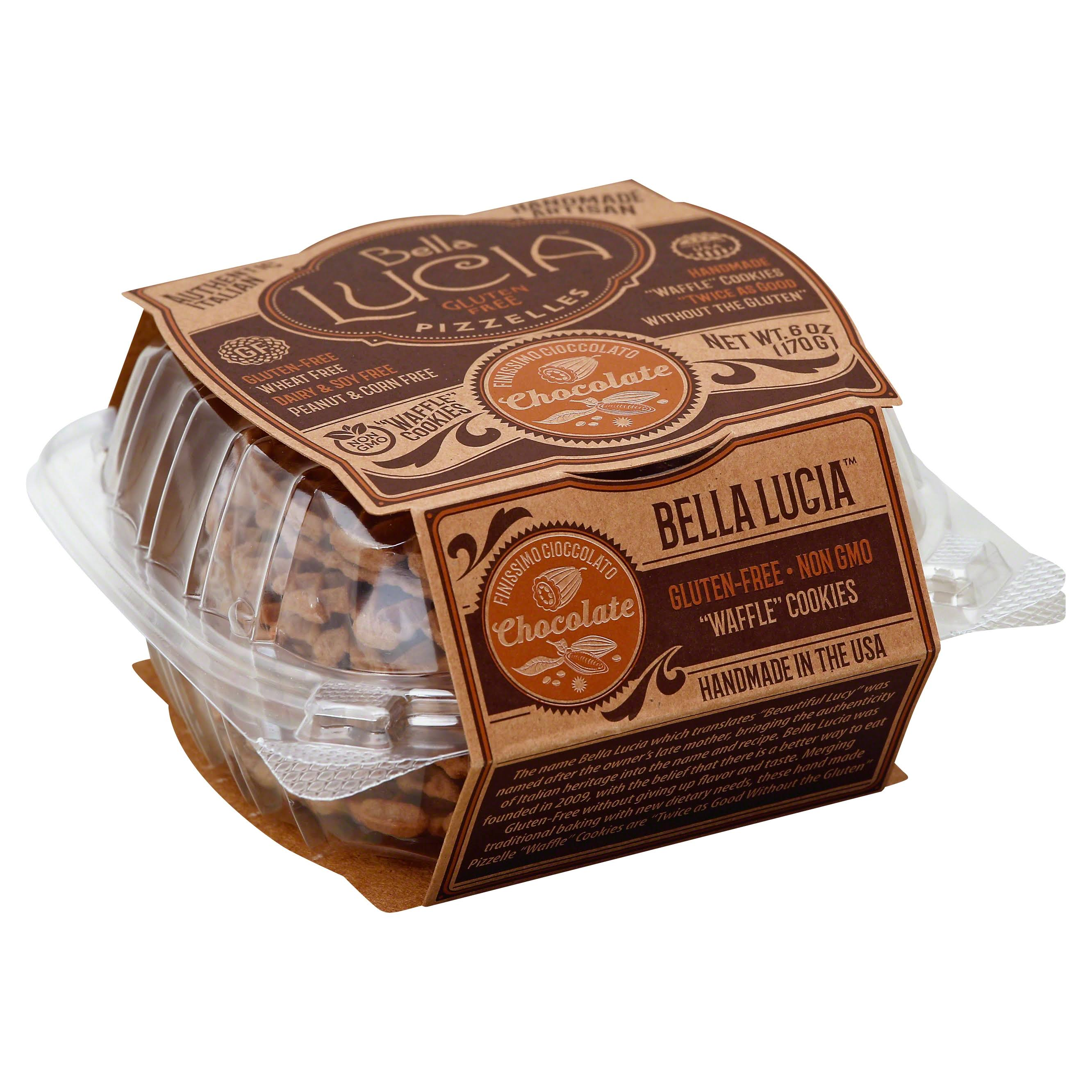 Bella Lucia Pizzelles, Gluten Free, Chocolate - 6 oz