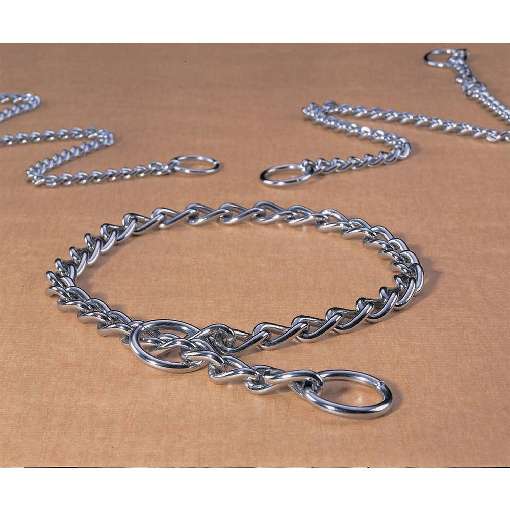 Hamilton Medium Choke Chain Dog Collar 20 in