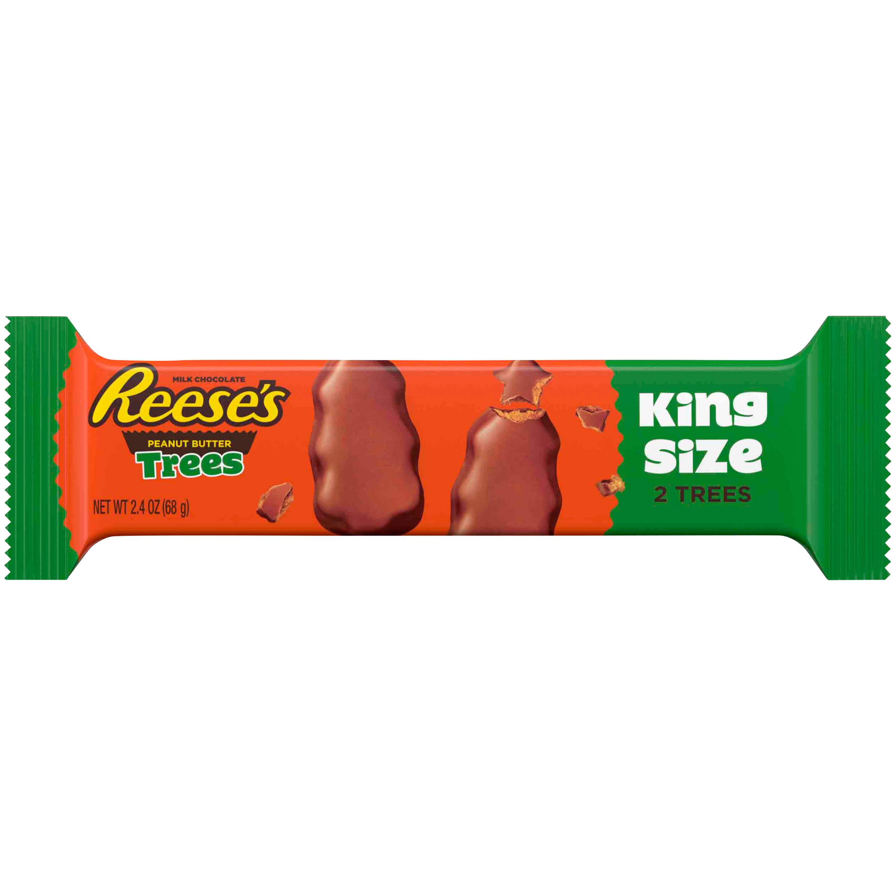 Reese's Milk Chocolate Peanut Butter Trees - King Size, 68g