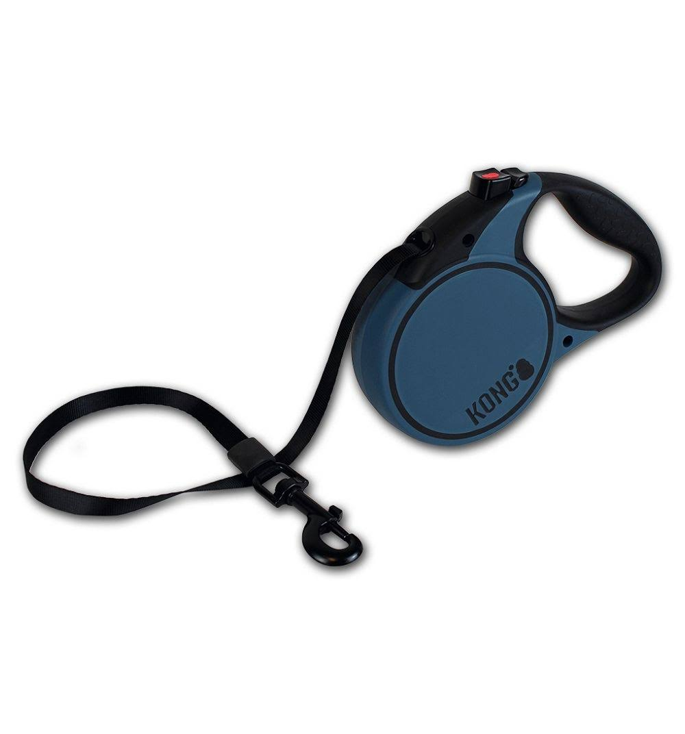 Kong Retractable Leash Terrain - Blue, Small