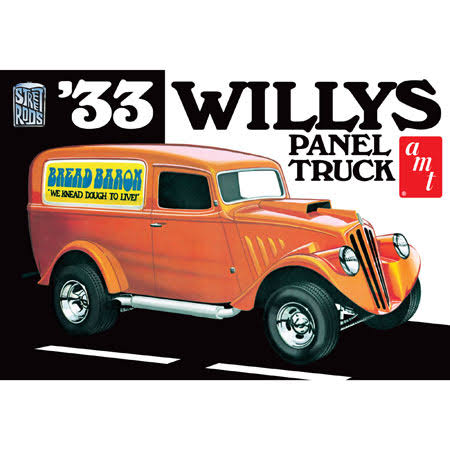 AMT 879 1/25 Scale 1933 Willys Panel Truck Plastic Model Kit