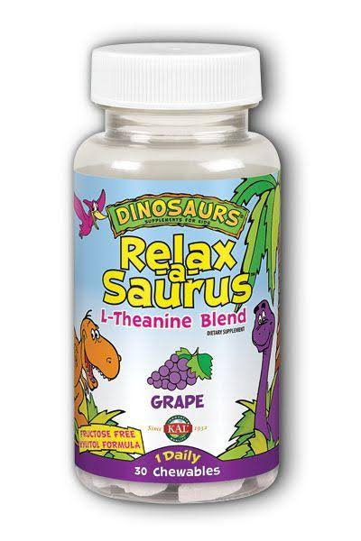 Kal Dinosaurs Relax a Saurus L Theanine Dietary Supplement - Grape, 30ct