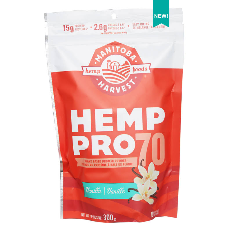 Manitoba Harvest Hemp Pro 70, Vanilla - 10.5 oz bag