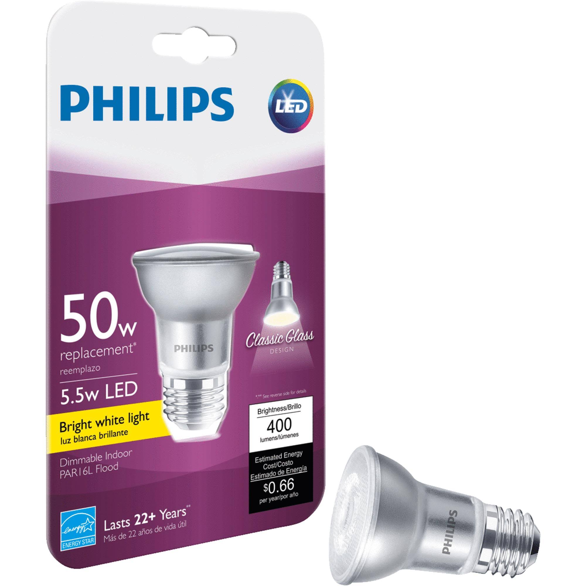 Philips PAR16L Dimmable LED Light Bulb - Glass, 50 W Equivalent
