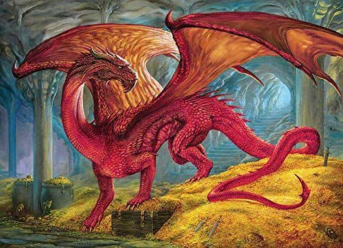 Cobble Hill Red Dragon's Treasure Jigsaw Puzzle