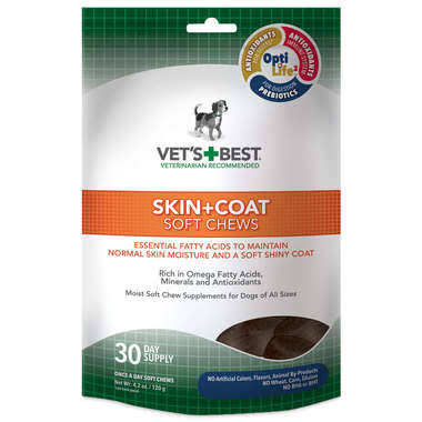 Vet's Best Skin and Coat Soft Chews Dog Supplement - 30ct