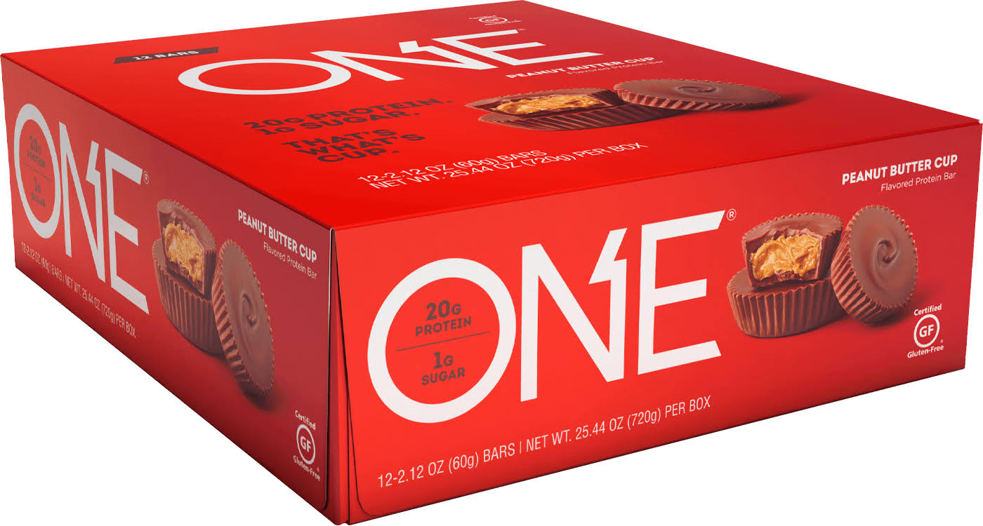 One Protein Bar, Flavored, Peanut Butter Cup - 12 pack, 2.12 oz bars