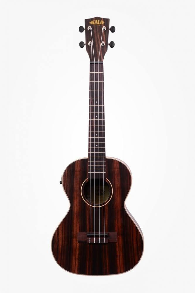Kala Ka Eby Te Tenor Acoustic and Electric Ukulele - Ebony Body, Right Handed