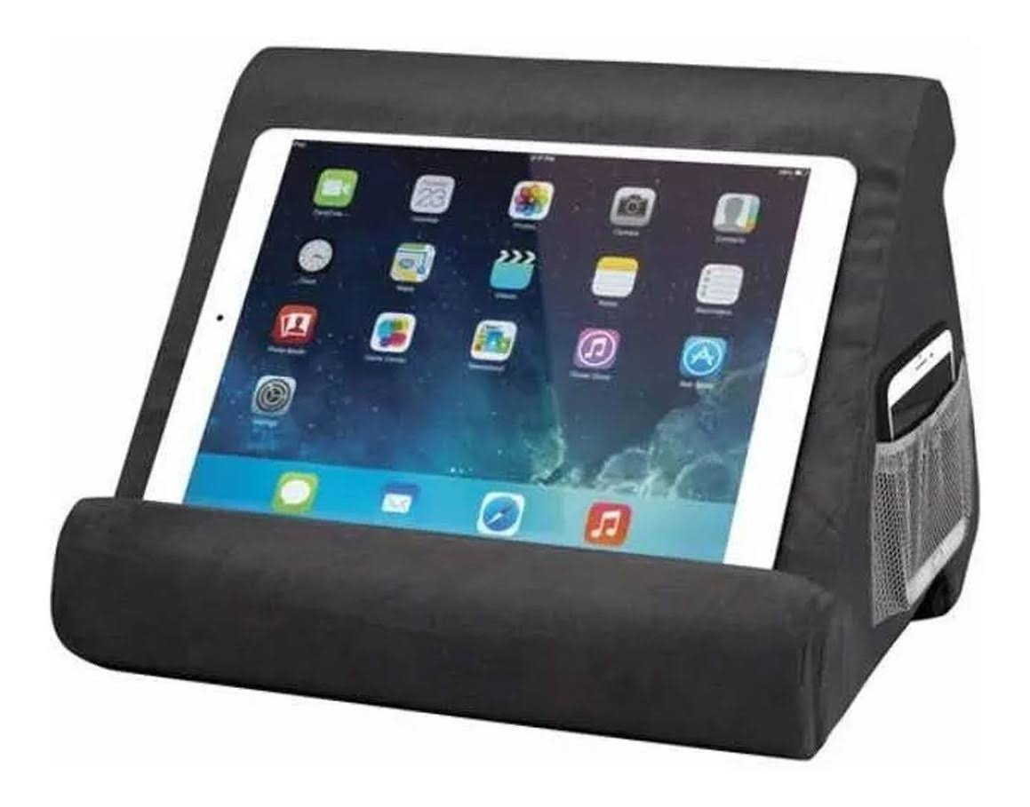 as Seen on TV Multi Angle Standard Pillow Tablet Stand, Charcoal Gray