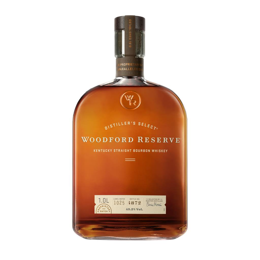Woodford Reserve Distiller's Select Bourbon Whiskey, Kentucky Straight - 1 lt