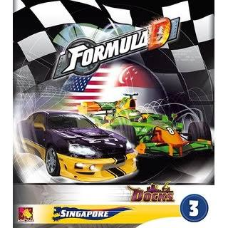 Asmodee Editions Formula D Circuit 3 Board Game - Singapore & Dock