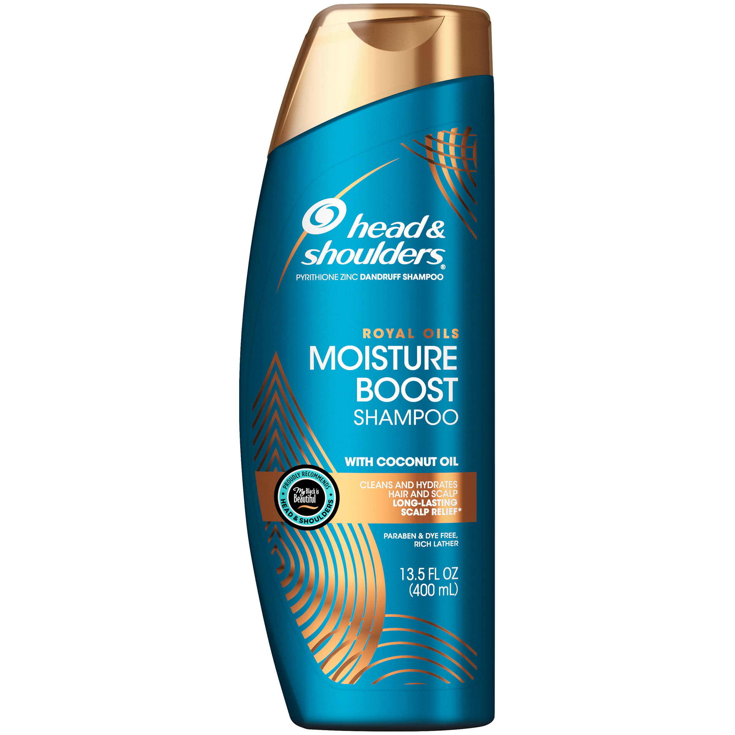 Head and Shoulders Royal Oils Moisture Boost Shampoo - with Coconut Oil, 13.5oz