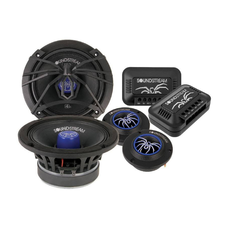 "Soundstream Die-Cast 6.5"" Pro Audio Components w/ Tweeters-crossovers 250W 4 Colors - SM.650PROC"