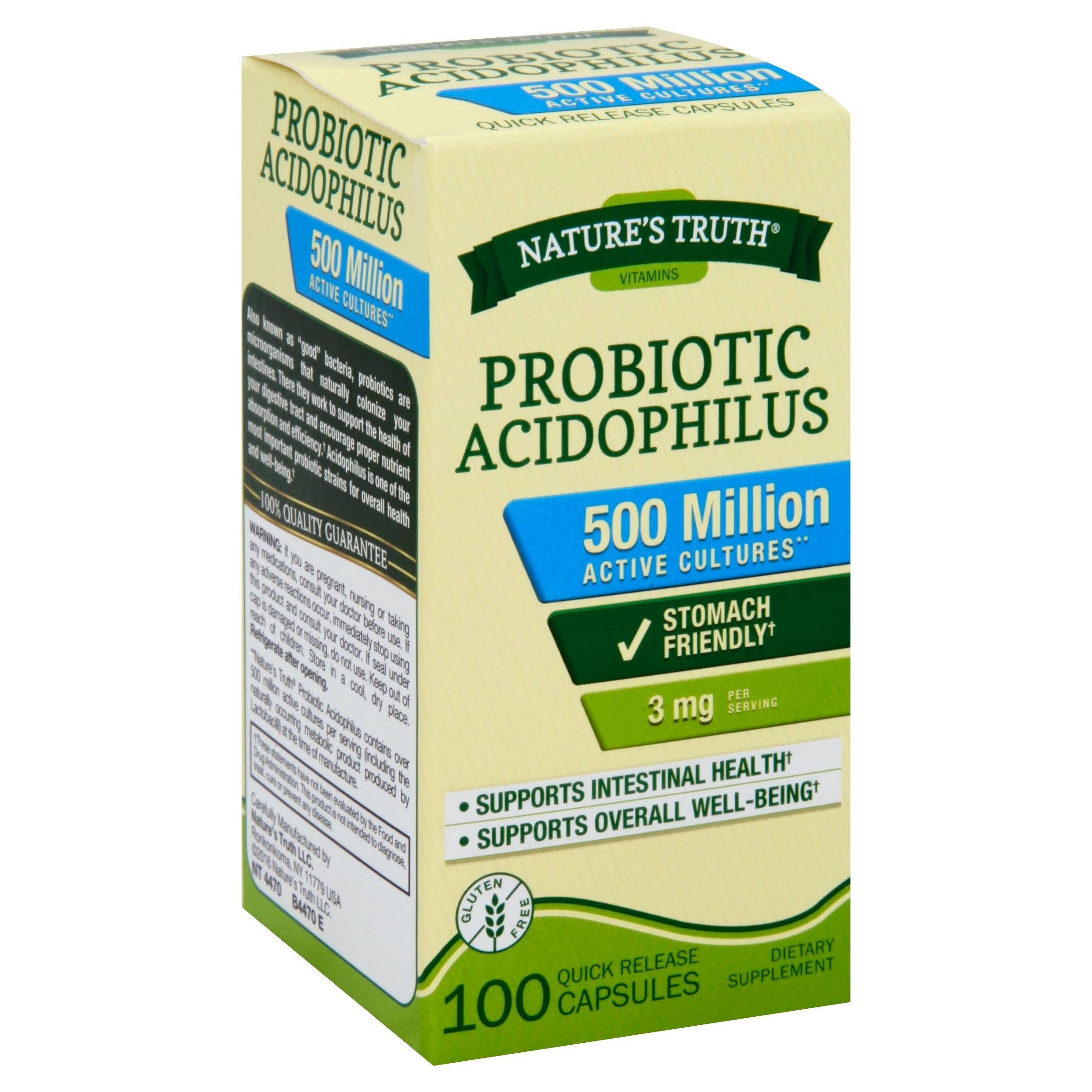Nature's Truth Probiotic Acidophilus Supplement - 100 Count