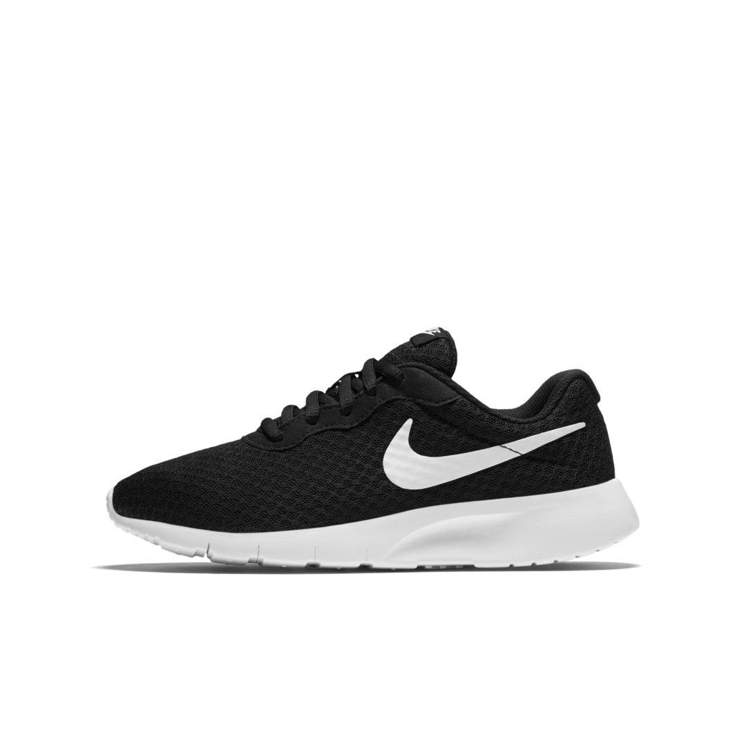 Nike Tanjun GS Junior Running Shoes - Black and White