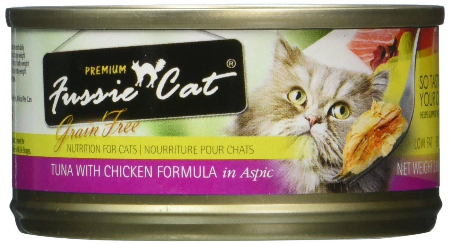 Fussie Cat Grain Free Tuna & Chicken Canned Cat Food - 2.8 oz