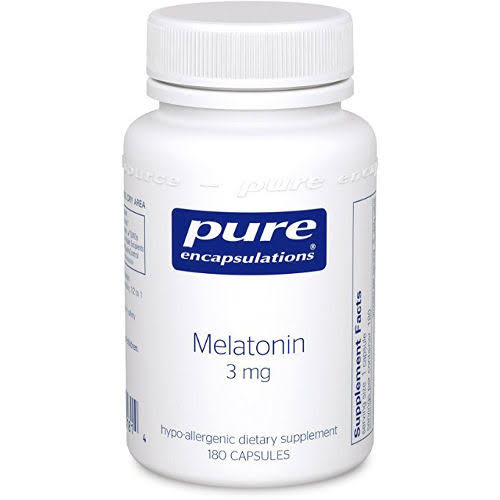 Pure Encapsulations Melatonin Vegetable Capsules Supplement - 3mg, 180ct