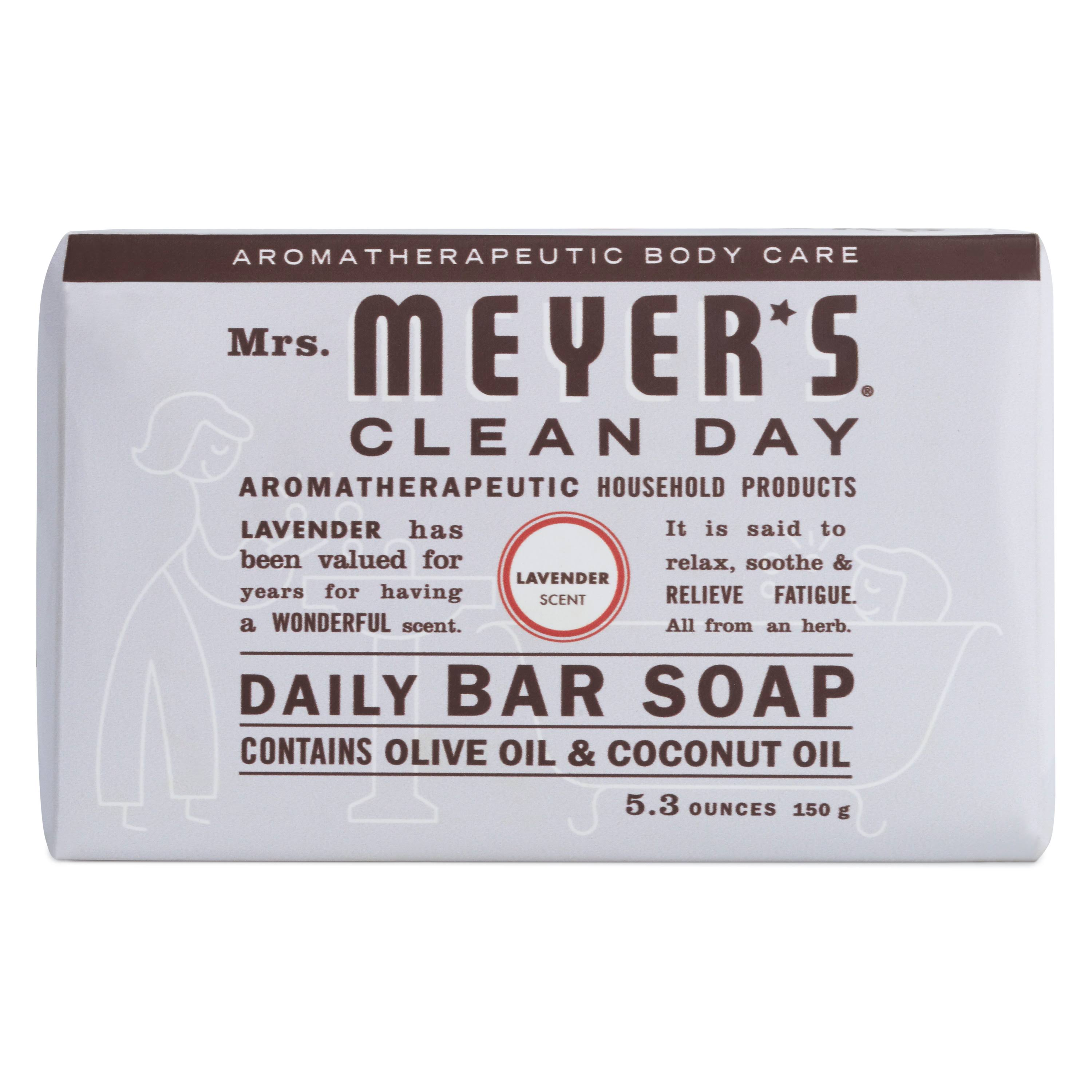 Mrs Meyers Clean Day Bar Soap, Daily, Lavender Scent - 5.3 oz