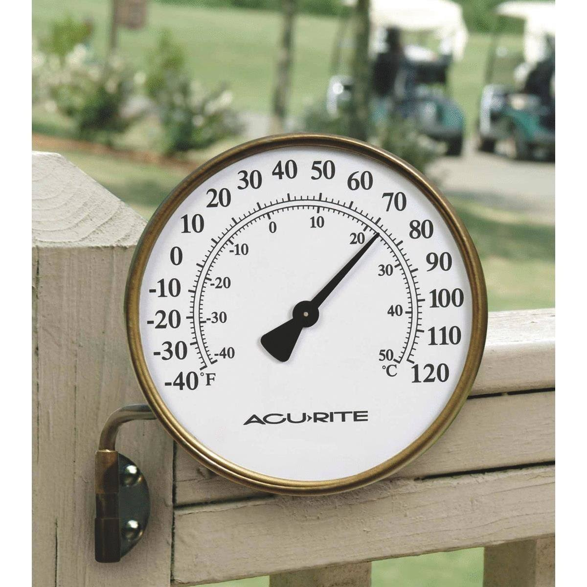 Acurite Swivel Thermometer - Brass, 4""