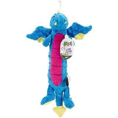 GoDog Skinny Dragons Dog Toy - Blue, Large