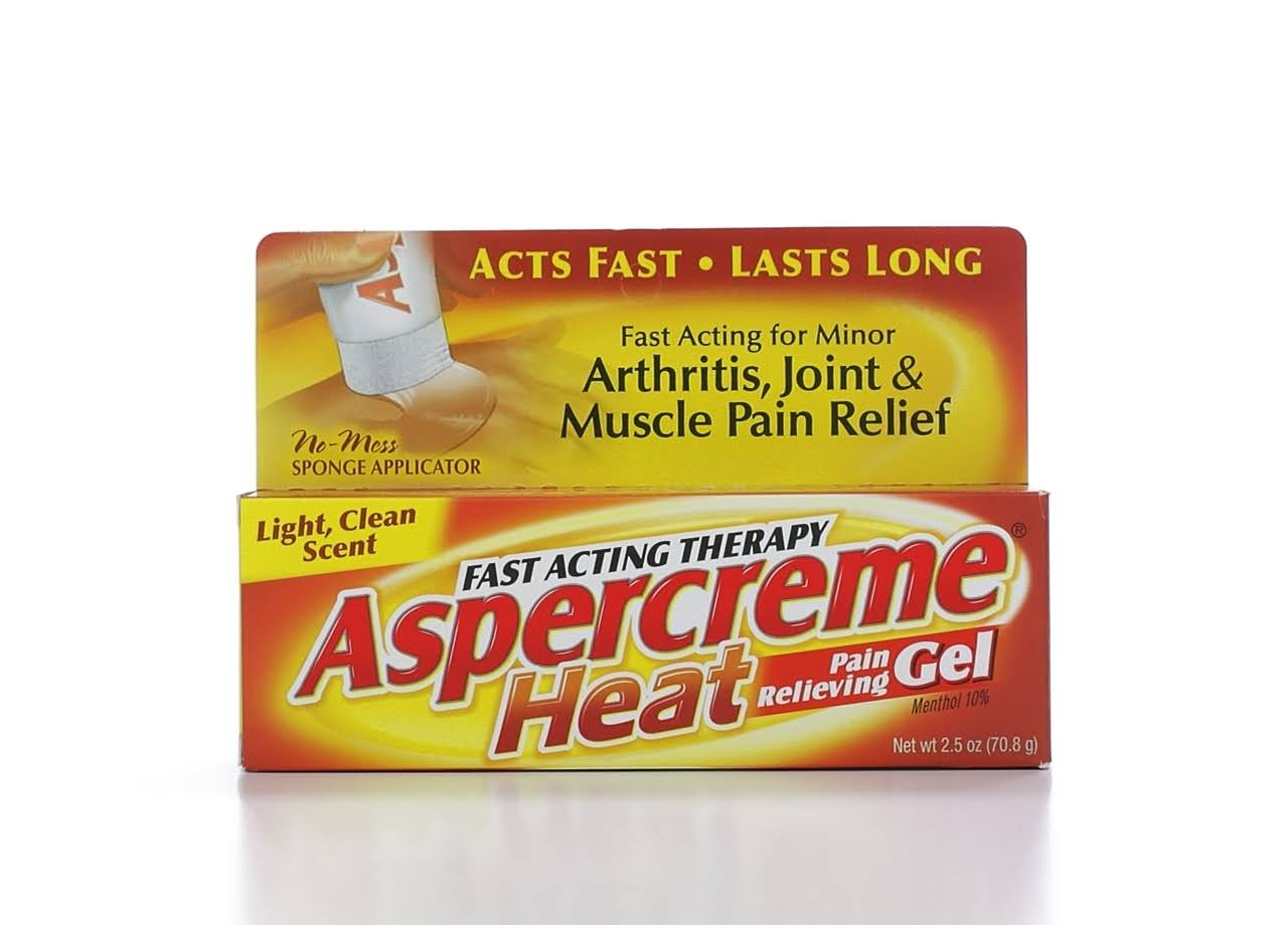 Aspercreme Heat Pain Relieving Gel - 2.5oz
