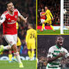Europa League results: Arsenal hammer Standard Liege and Celtic breeze past CFR Clug after Man United are held ...