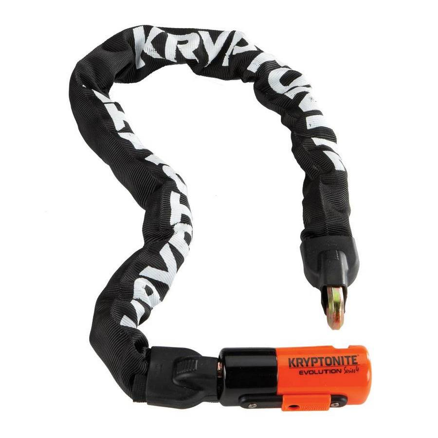 Kryptonite Evolution Series 4 Integrated Chain Lock - Black