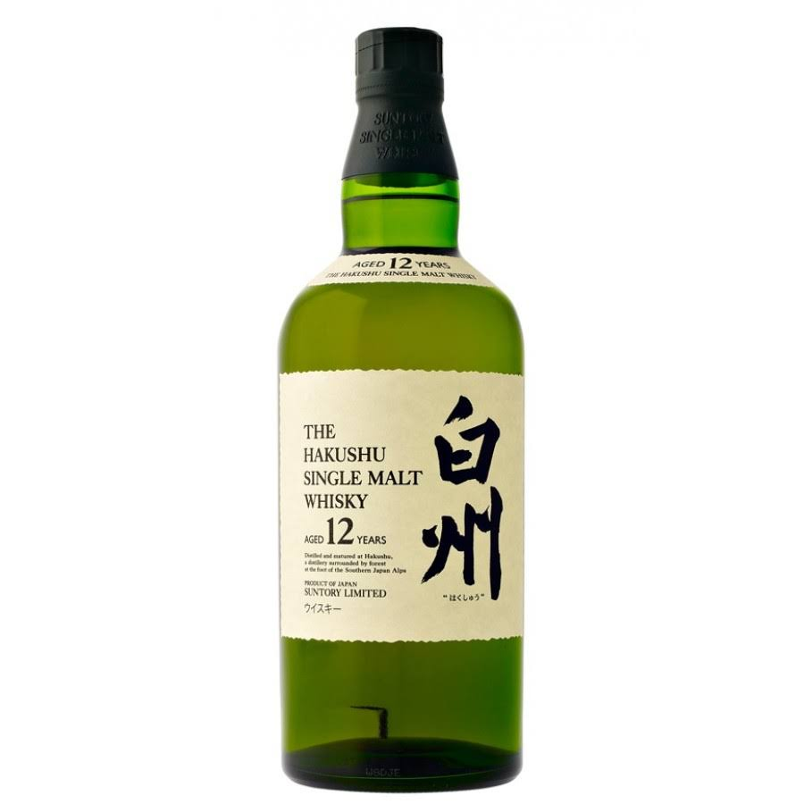 Hakushu 12 Year Single Malt Japanese Whisky - 750 ml bottle