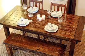 how to build a wood diy dining table