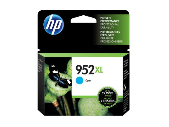 HP 952XL High Yield Original Ink Cartridge - Cyan