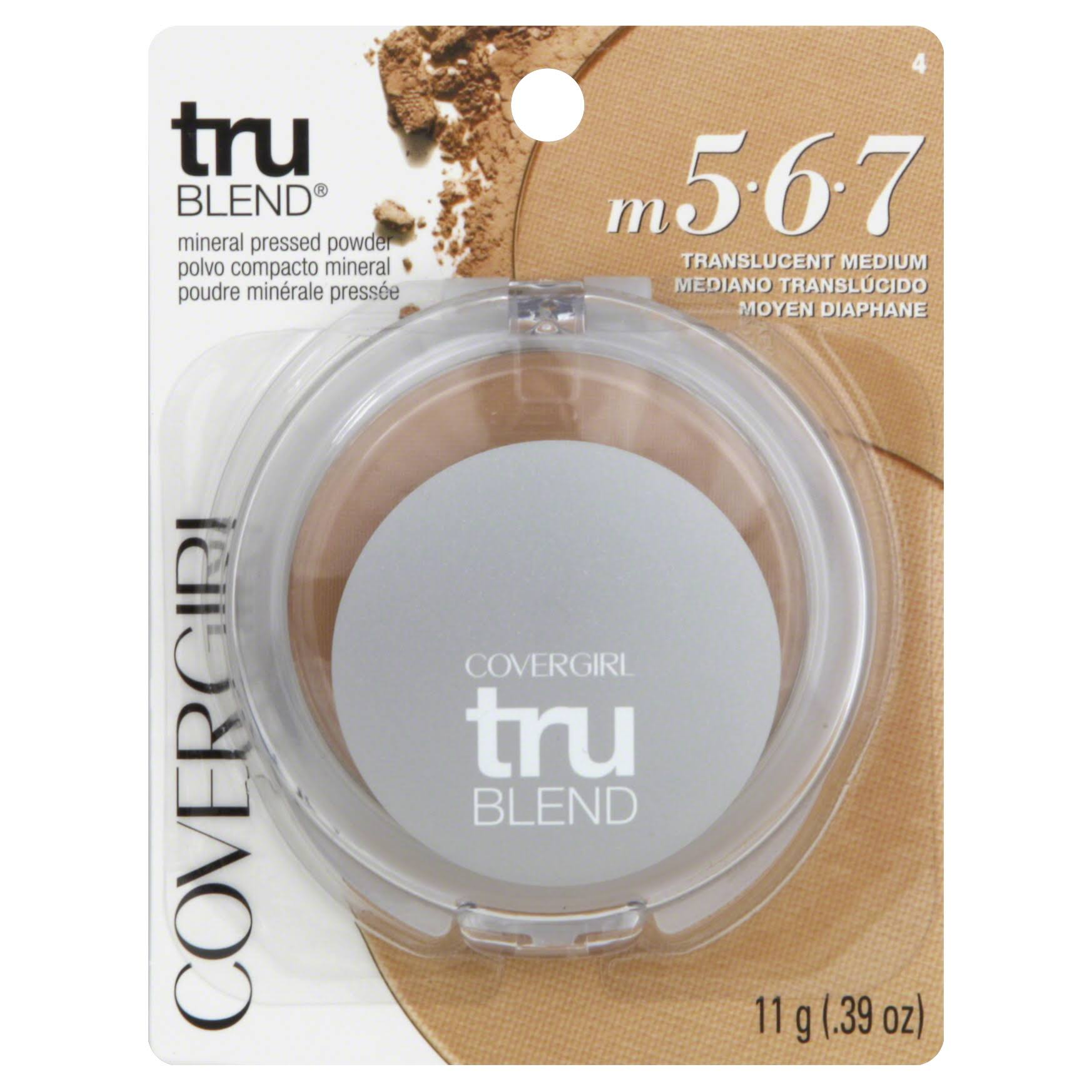 Covergirl Trublend Pressed Powder - 4 Translucent Medium, 11 g