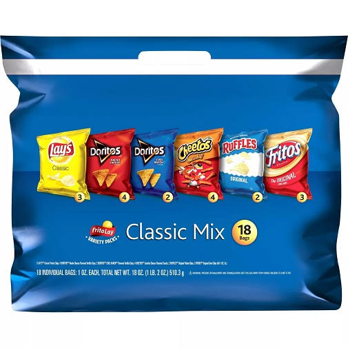 Frito Lay Classic Mix Variety Packs - 1oz, 18ct