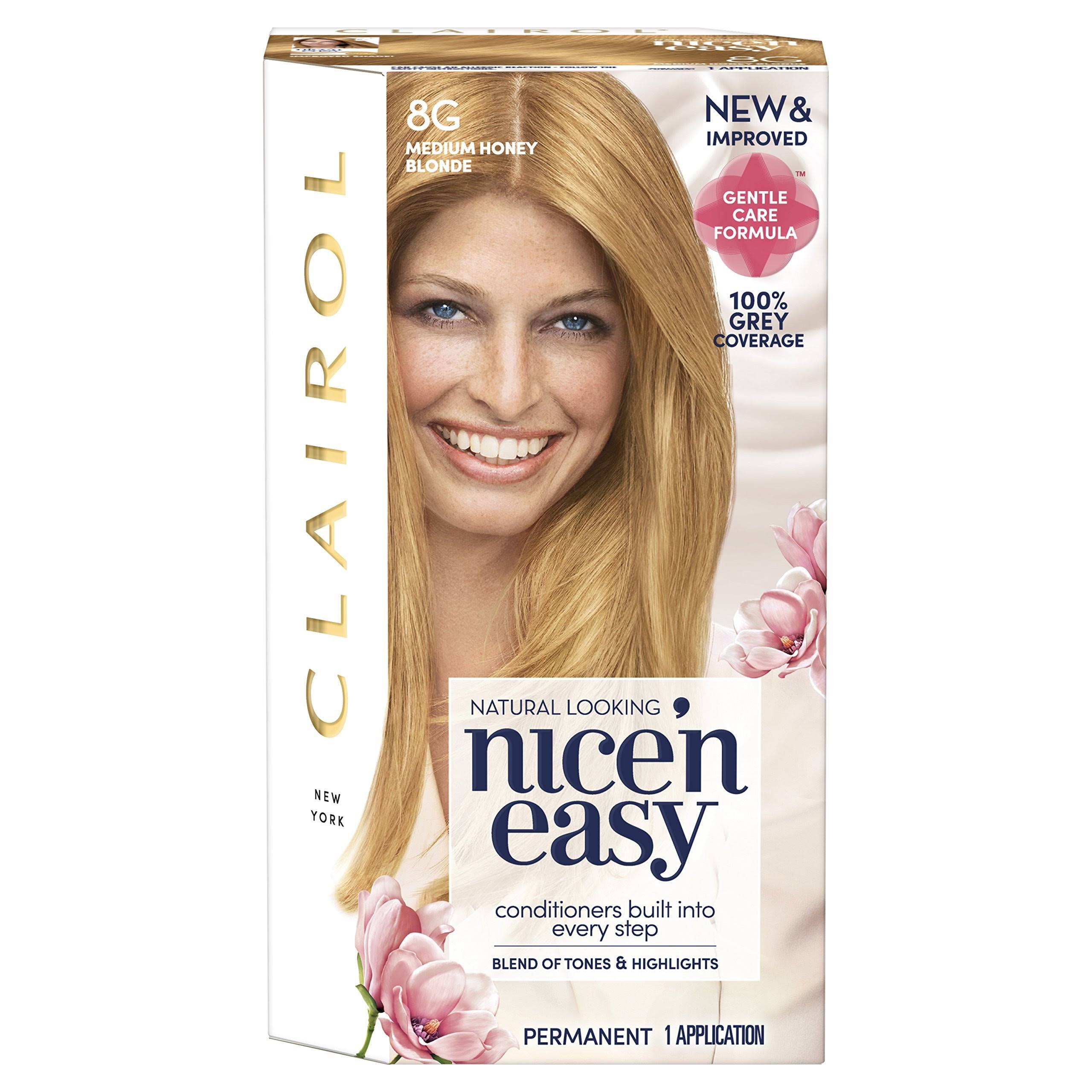 Nice'n Easy Permanent Hair Dye - Medium Honey Blonde, 8g