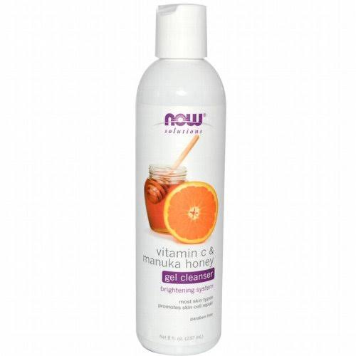 Now Foods Gel Cleanser - Vitamin C & Manuka Honey