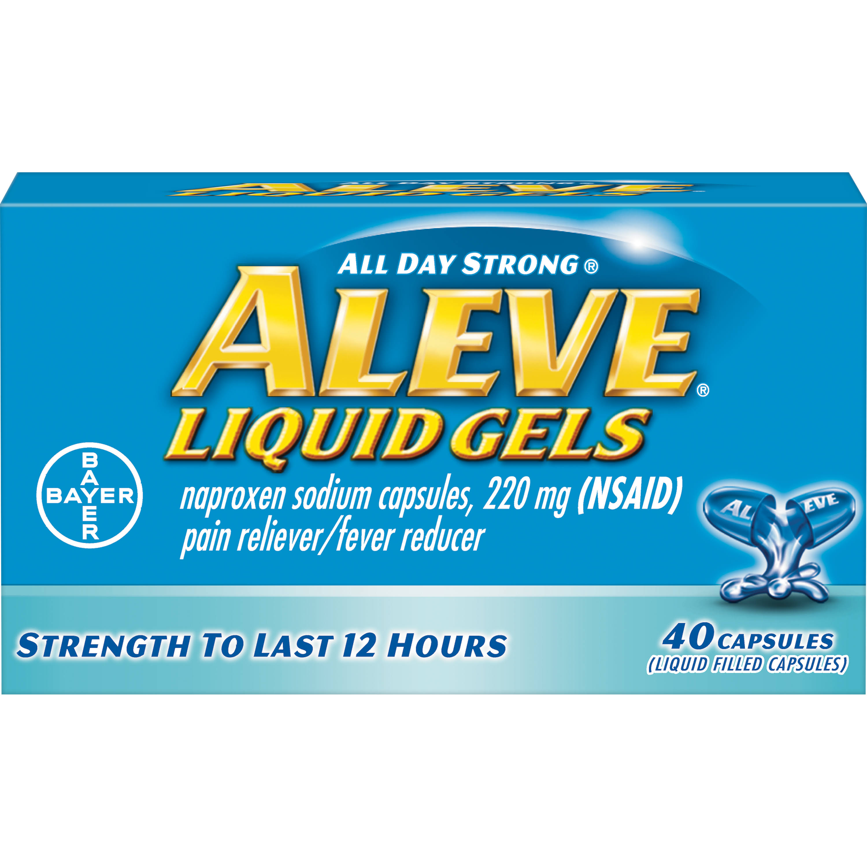Bayer Aleve Naproxen Sodium Capsules Liquid Gels - 220mg, 40ct